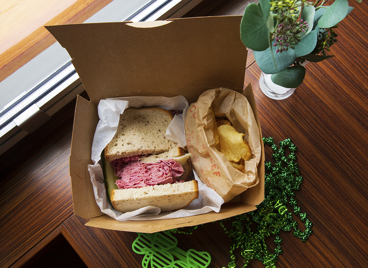Boxed sandwich And Chips